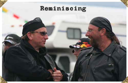 Bikers talking